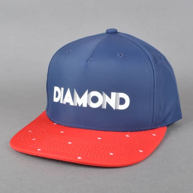 Diamond Supply Co Deco Clipback Cap - Navy/Red