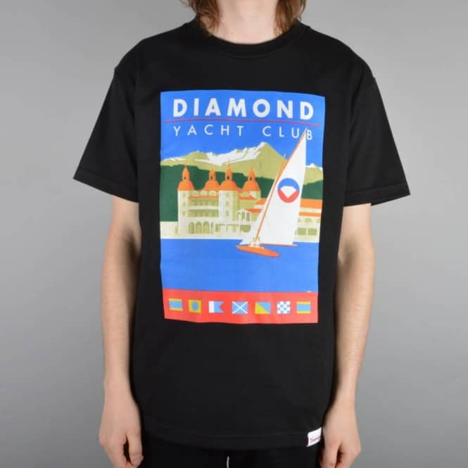 Diamond Supply Co Destination T-Shirt - Black