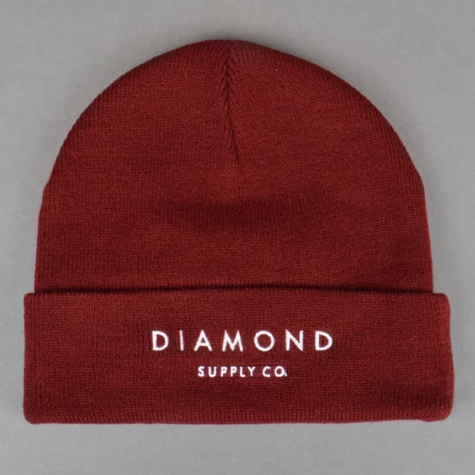Diamond Supply Co. Diamond Beanie - Burgundy
