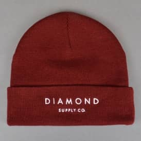 Diamond Beanie - Burgundy