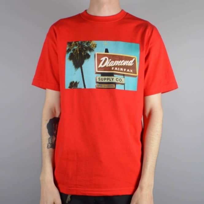 Diamond Supply Co Diamond Deli T-Shirt - Red