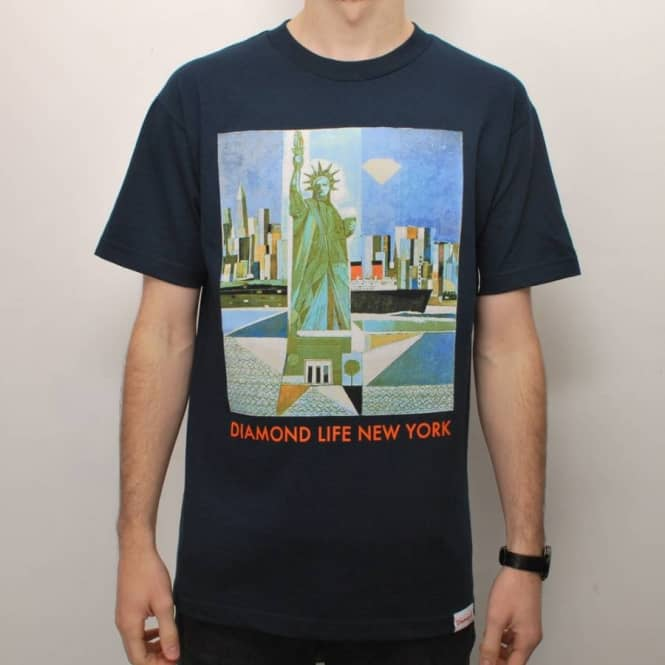 Diamond Supply Co. Diamond Supply Co. Diamond Life New York Skate T-Shirt - Navy