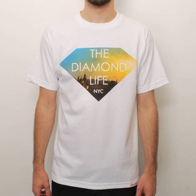 Diamond Supply Co Diamond Supply Co. Diamond Life NYC Skate T-Shirt - White