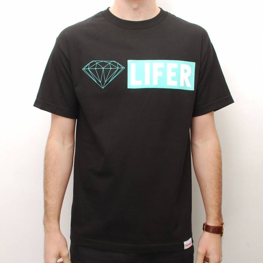 Diamond supply co diamond supply co diamond lifer skate t for Wholesale diamond supply co shirts