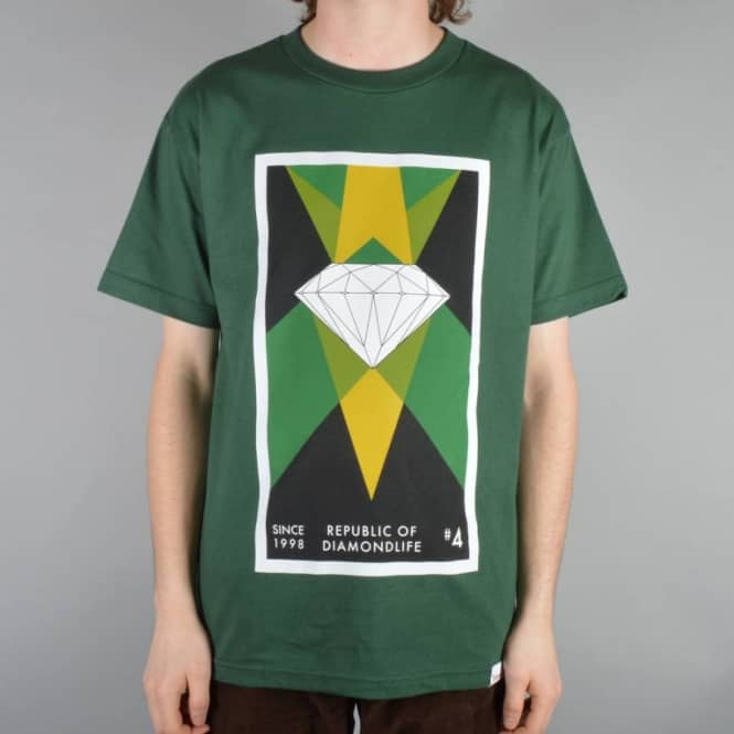 Diamond Supply Co Diamond Republic Skate T-Shirt - Hunter Green