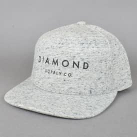 Diamond Supply Co Diamond Snapback Cap - Speckle Grey