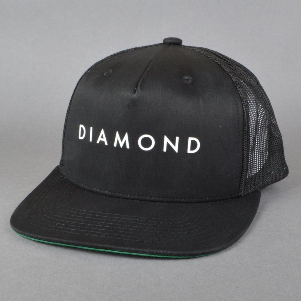 info for e0506 11840 Diamond Snapback Trucker Cap - Black