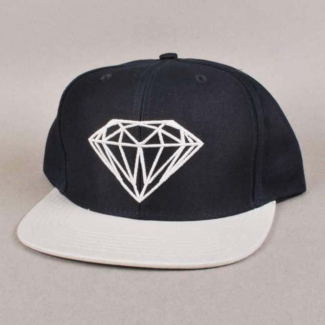 Diamond Supply Co. Brilliant Snapback Cap - Navy Grey - Caps from ... 9bdf62a3f54f
