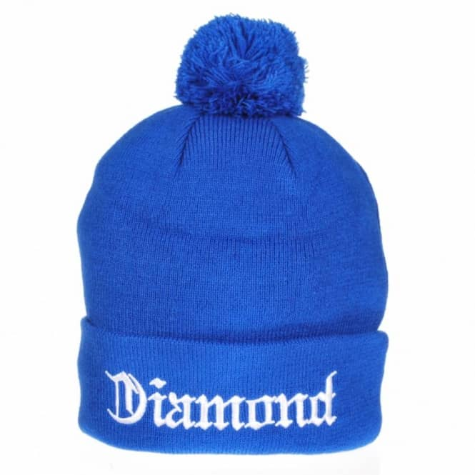 Diamond Supply Co Diamond Supply Co. Diamond 4 Life Pom Pom Beanie - Royal Blue