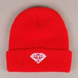 Diamond Supply Co Diamond Brilliant Fold Beanie - Red