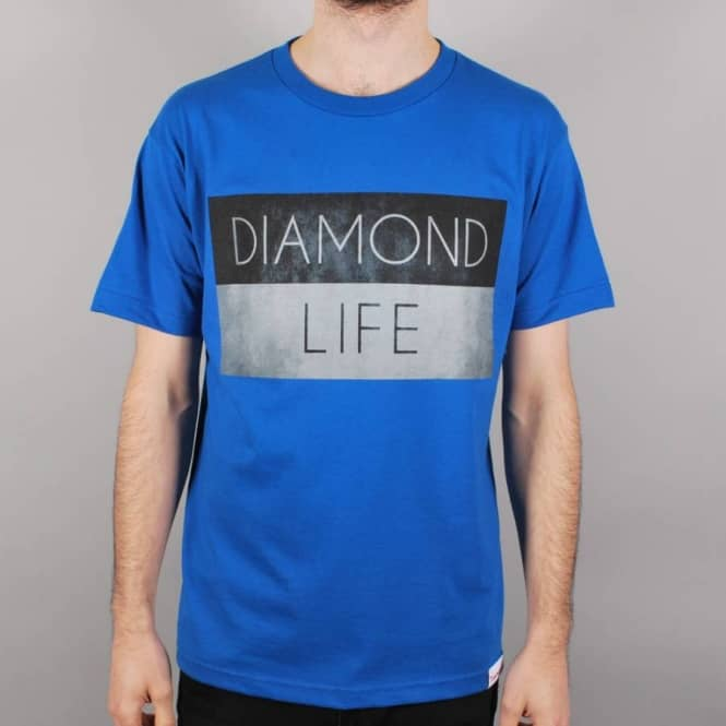 Diamond Supply Co. Diamond Supply Co. Diamond Life Flag Skate T-Shirt - Royal Blue