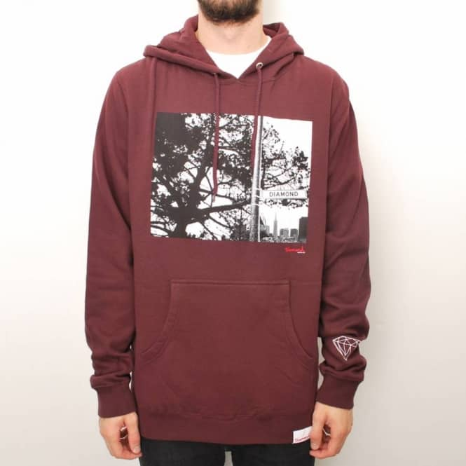 Diamond Supply Co. Diamond Supply Co. Diamond Street Pullover Hoodie - Burgundy