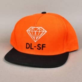 Diamond Supply Co. DL-SF Snapback Cap - Orange/Black