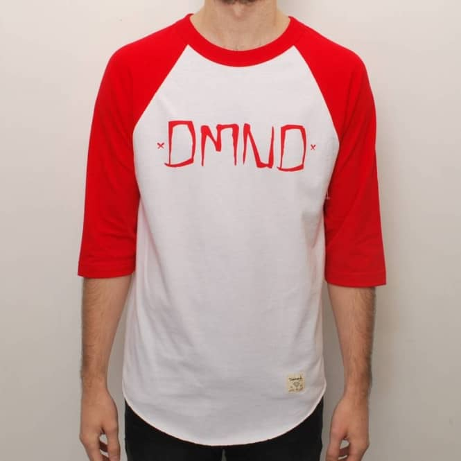Diamond Supply Co Diamond Supply Co. DMND Gang Raglan T-Shirt - White/Red
