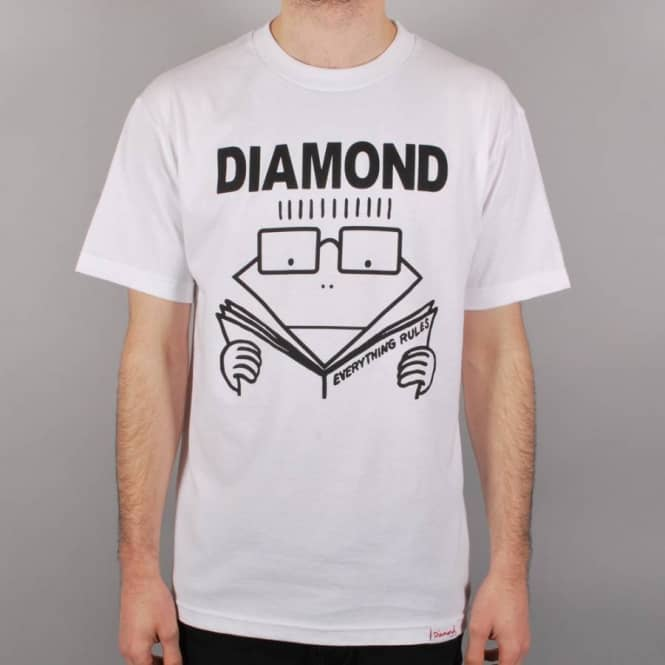 Diamond Supply Co Diamond Supply Co. Everything Rules Skate T-Shirt - White