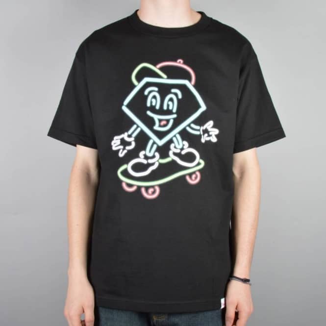 Diamond Supply Co. Diamond Supply Co. Neon Lil Cutty Skate T-Shirt - Black