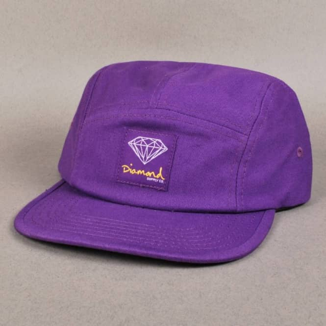 Diamond Supply Co. Diamond Supply Co. OG Sign 5 Panel Camp Cap - Purple