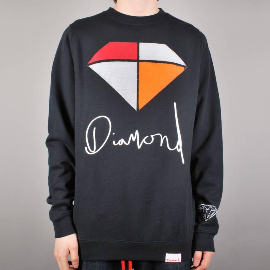 Diamond Supply Co Diamond Supply Co. Painted Crewneck ...