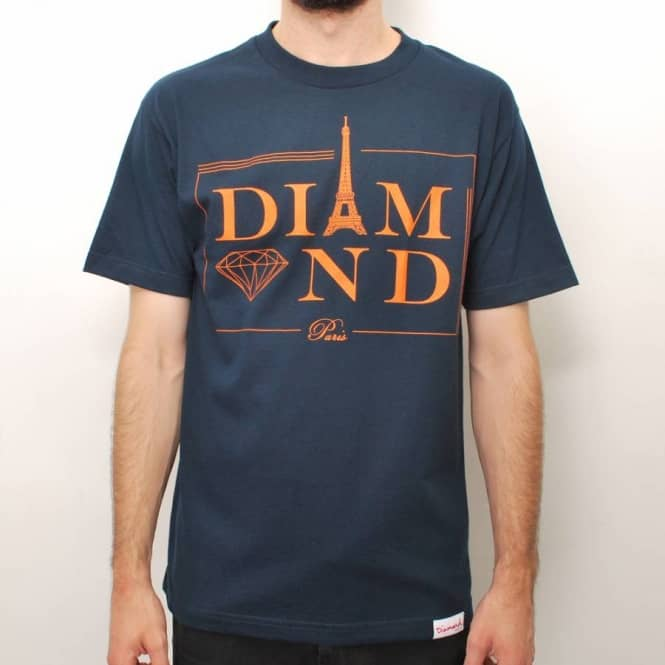 Diamond Supply Co Diamond Supply Co. Paris Skate T-Shirt - Navy