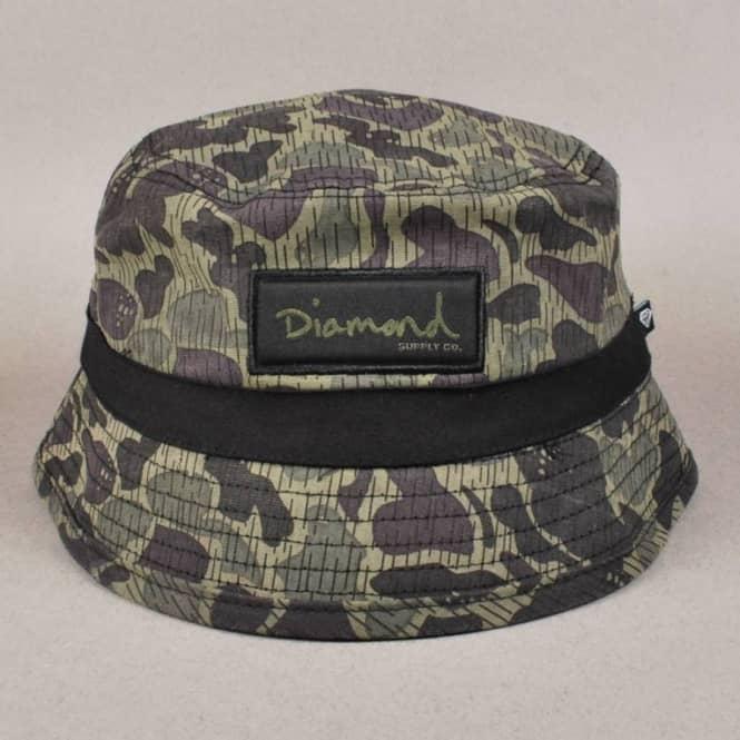 Diamond Supply Co. Rainfrog Camo Bucket Hat - Black Camo - Bucket ... 6af0cbb4f07