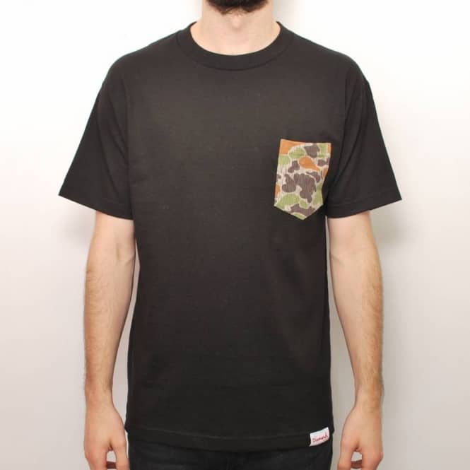 Diamond Supply Co. Diamond Supply Co. Rainfrog Camo Pocket T-Shirt - Black
