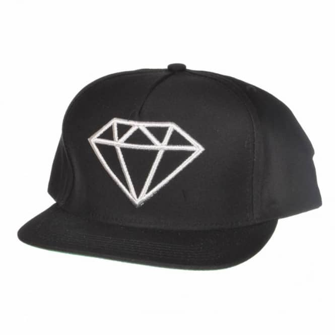 0c780698a05f7b Diamond Supply Co. Rock Logo Snapback Cap - Black/Silver - Caps from ...