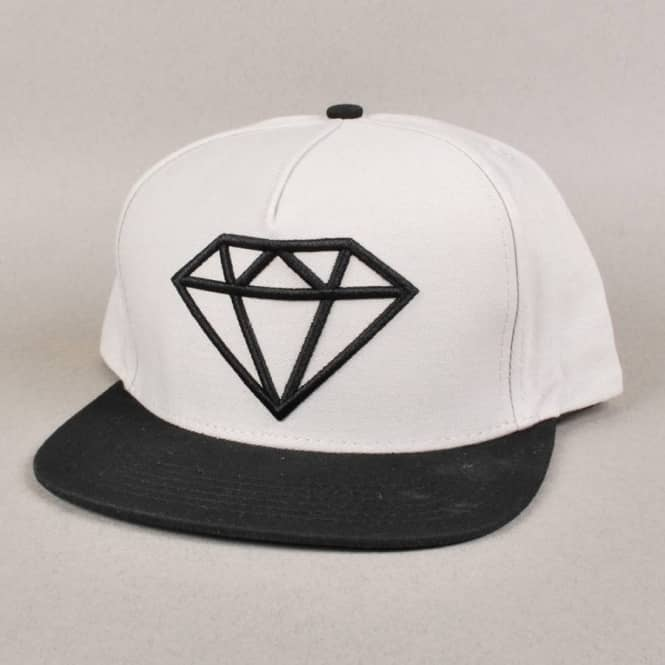 d828f14ef7717a Diamond Supply Co. Rock Logo Snapback Cap - Grey/Black - Caps from ...