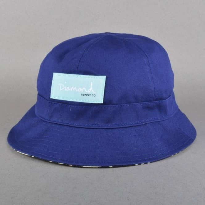 Diamond Supply Co. Ropes Reversible Bucket Hat - Navy - Bucket Hats ... acdb968a1c1
