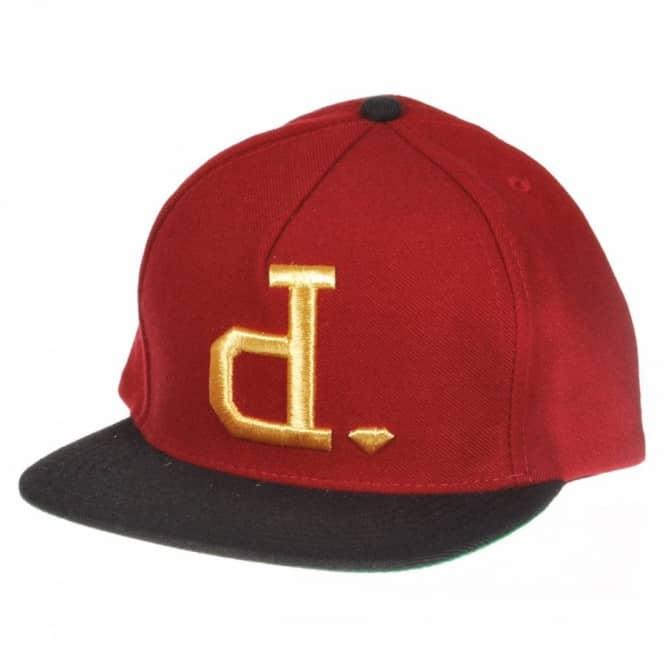 1e7f030cfec20 Diamond Supply Co. Un-Polo Snapback Cap - Burgundy Gold Black - Caps ...