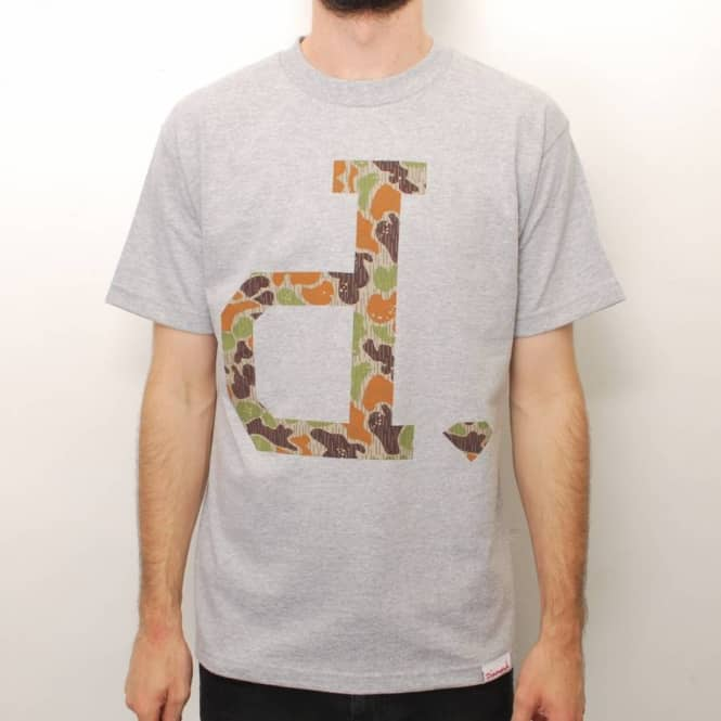 Diamond Supply Co. Diamond Supply Co. Unpolo Rain Camo Skate T-Shirt - Heather Grey