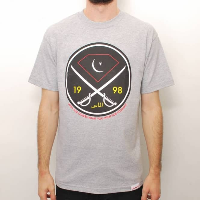 Diamond Supply Co. Diamond Supply Co. Victory Swords Skate T-Shirt - Heather Grey