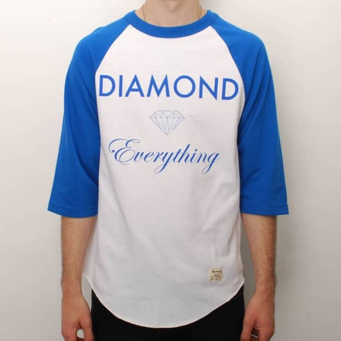 Diamond Supply Co Diamond Supply Co. Everything Raglan Skate T-Shirt - Royal/White