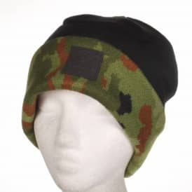 Diamond Supply Co. Fold Beanie - Black/Camo/Leather