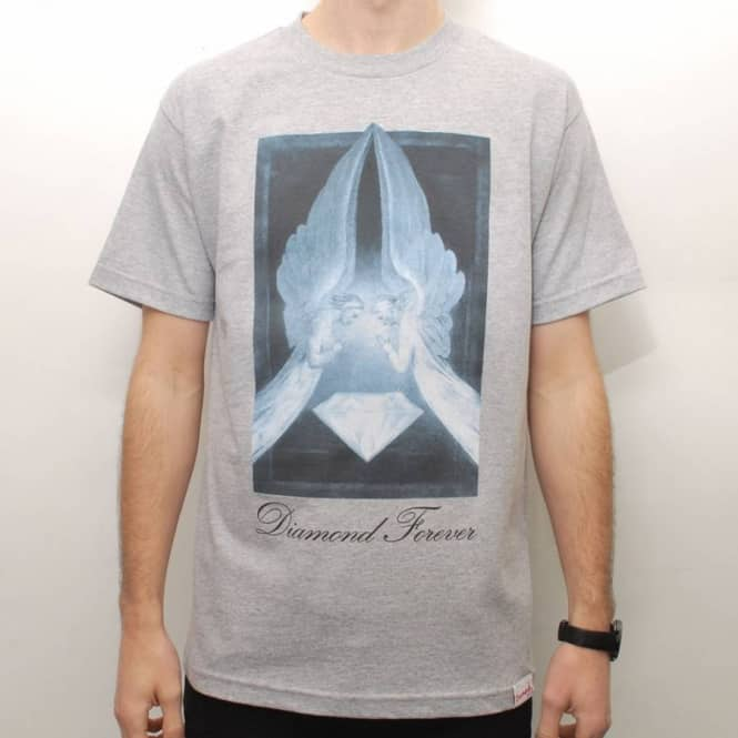 Diamond Supply Co. Diamond Supply Co. Forever 13 Skate T-Shirt - Heather Grey