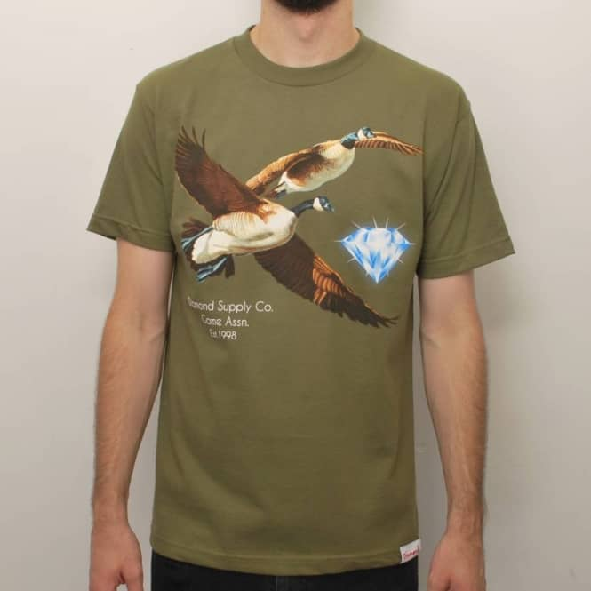 Diamond Supply Co. Diamond Supply Co. Game Assn. Pt3 Skate T-Shirt - Army Green