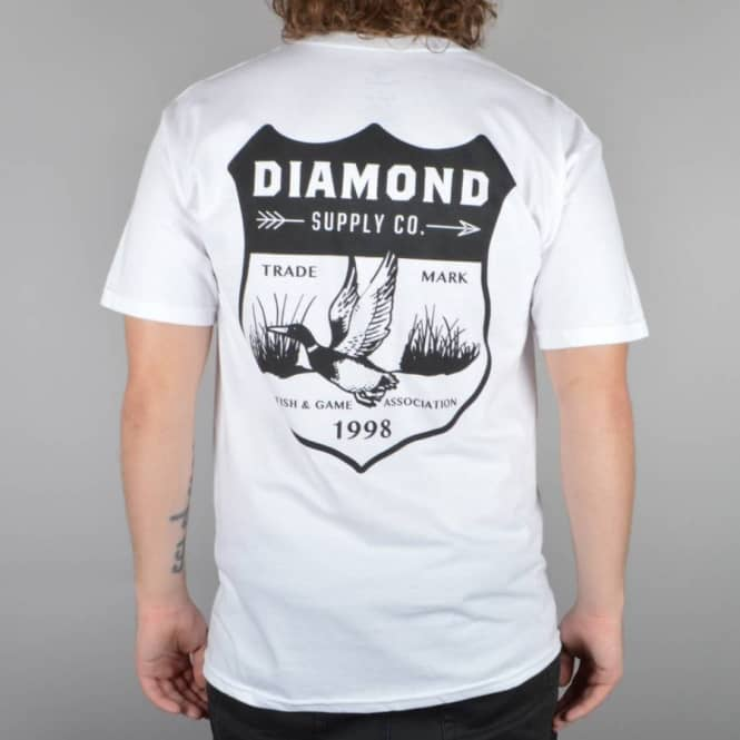 Diamond Supply Co. Game Patch T-Shirt - White