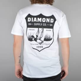 Diamond Supply Co Game Patch T-Shirt - White