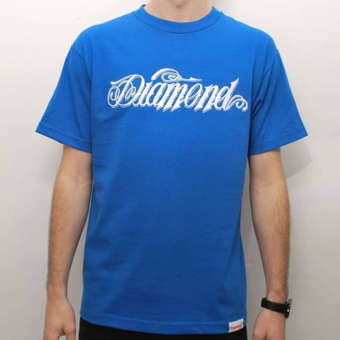 Diamond Supply Co Diamond Supply Co. Giant Script Skate T-Shirt - Royal Blue