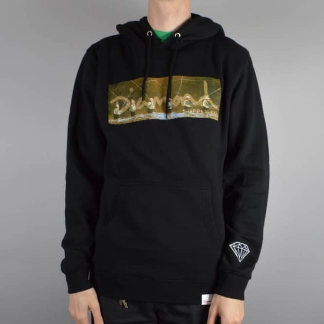 Diamond Supply Co. Gone Fishing Pullover Hoodie - Black