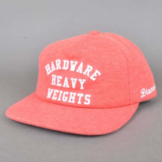 Diamond Supply Co. Hardware Heavyweights Snapback Cap - Heather Red