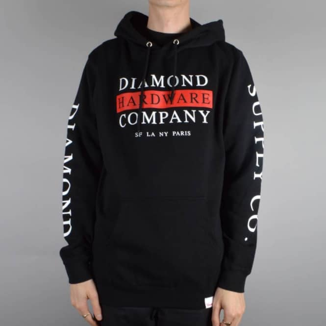 Diamond Supply Co Hardware Stack Pullover Hoodie - Black