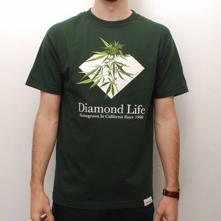 Diamond supply co diamond supply co homegrown skate t for Wholesale diamond supply co shirts