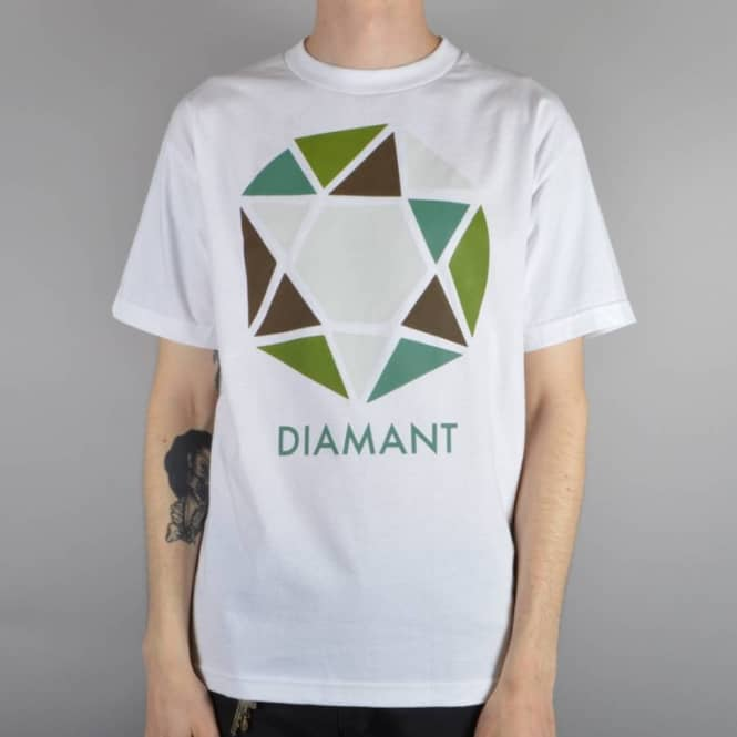 Diamond Supply Co Le Diamant Abtrait T-Shirt - White