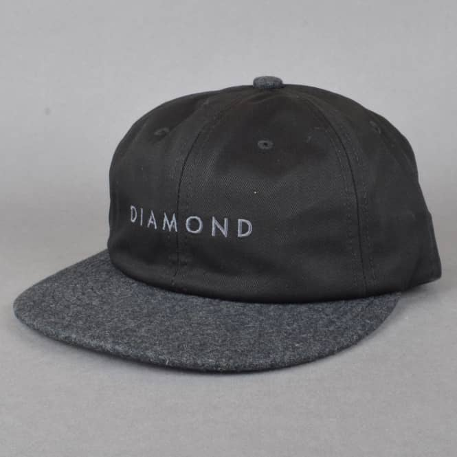 Diamond Supply Co. Leeway Unstructured Snapback Cap - Black