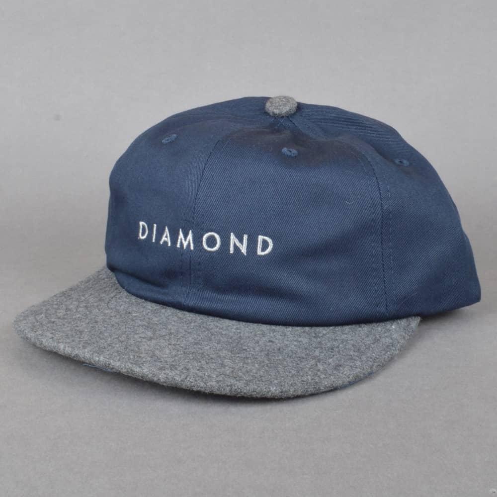 ad162591473 Diamond Supply Co. Leeway Unstructured Snapback Cap - Navy - SKATE ...