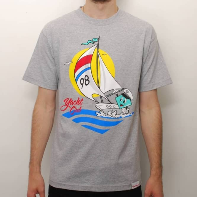 Diamond Supply Co. Diamond Supply Co. Lil' Cutty Yacht Club Skate T-Shirt - Heather Grey