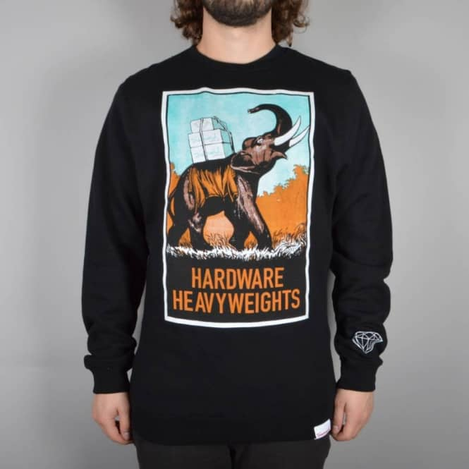 Diamond Supply Co Long Haul Crewneck Sweater - Black
