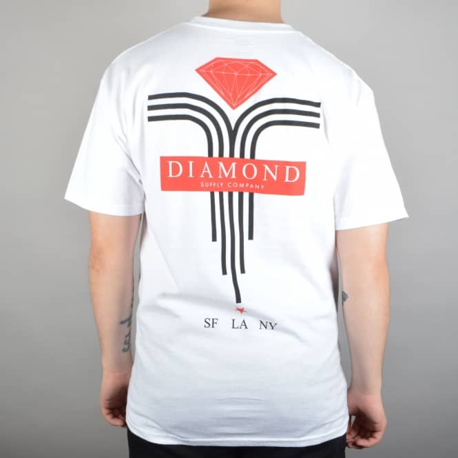 Diamond Supply Co. Mach 5 Skate T-Shirt - White