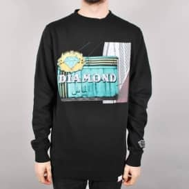 Diamond Supply Co. Neon Crewneck Sweater - Black
