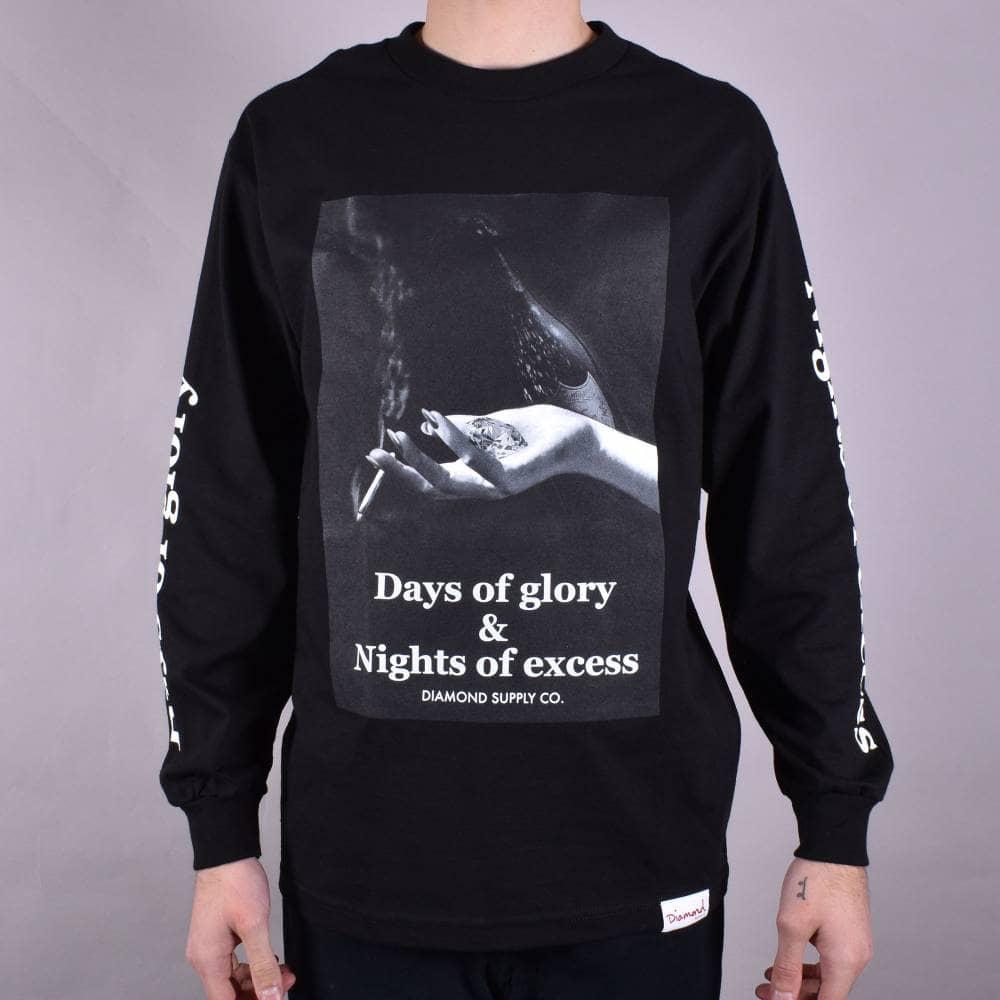 d224f793d9411 Diamond Supply Co. Night of Excess Long Sleeve Skate T-Shirt - Black ...